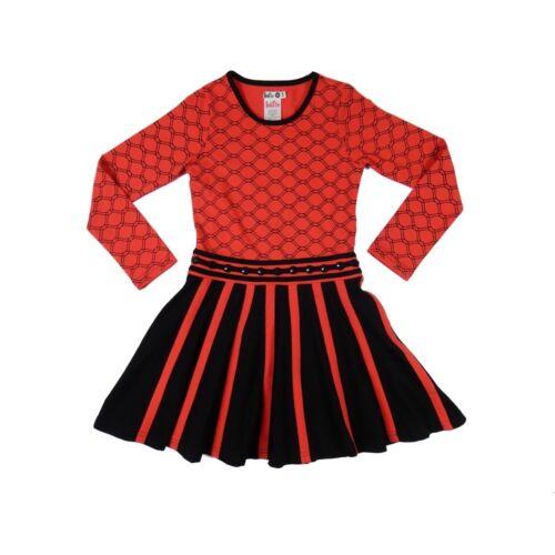 LoffF Jerseykleid  Tiptop rot-schwarz Gr 104-152 +++REDUZIERT++