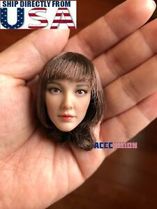 "1//6 Female Head Sculpt short brown hair DR007 A PHICEN Hot Toys 12/"" Figure ❶USA❶"