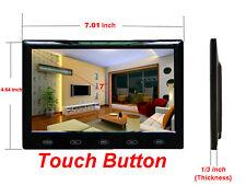 US 7'' HD 800x480 Ultra Thin TFT LCD Color Car Rear View Monitor Audio HDMI VGA