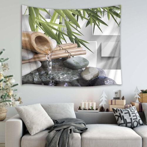 Briques printemps Bambou Spa Tapestry Wall Hanging Decor Chambre Couvre-lit dortoir nouveau
