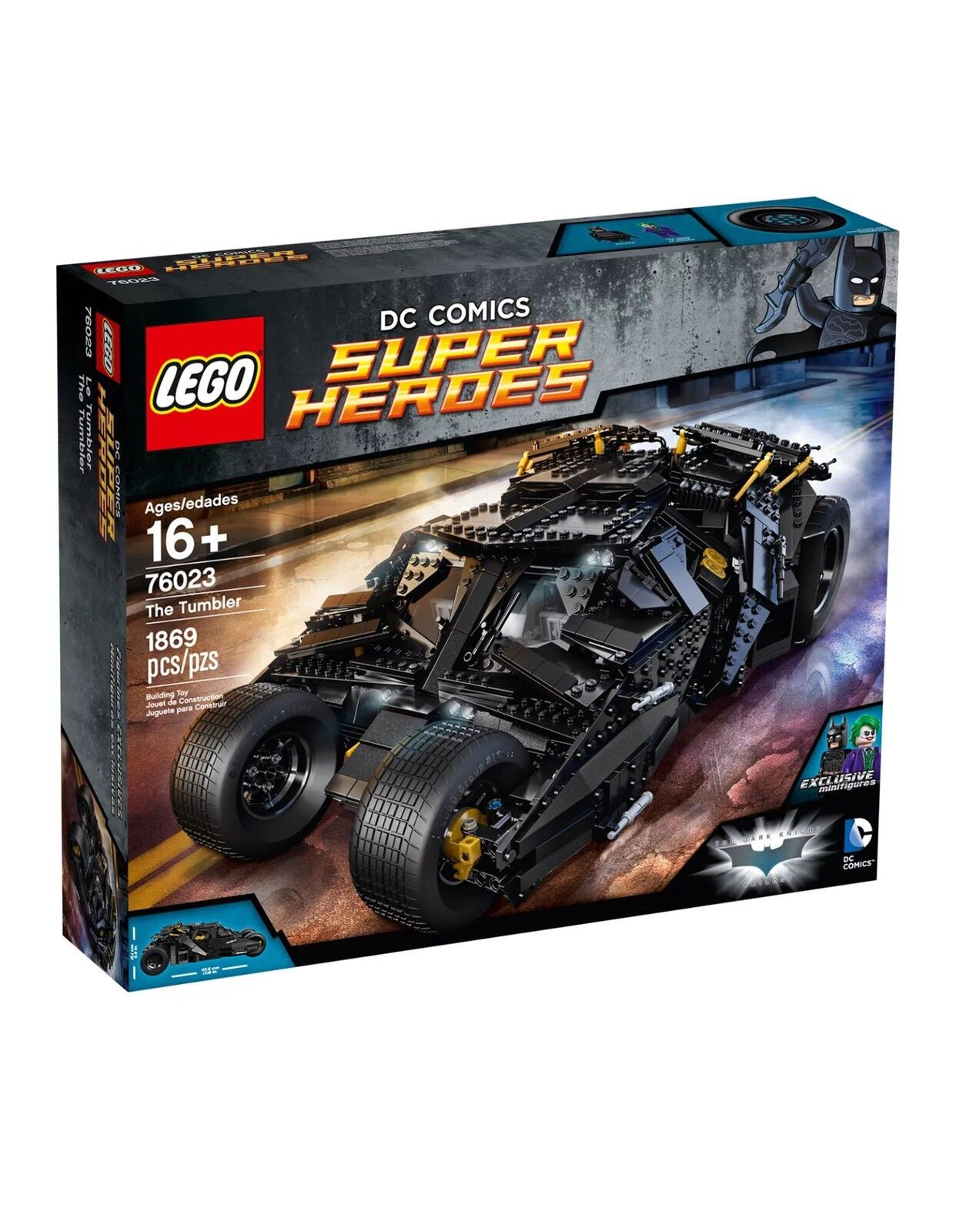 LEGO DC Super Heroes 76023 The Tumbler Batman  Nuovo Sealed Retirosso