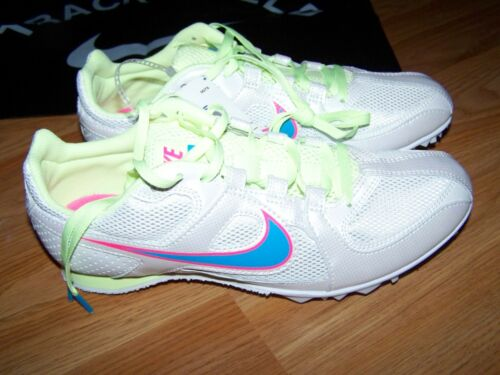 Size 5 Nike Track & Field Rival MD Athletic Shoes White Pink Blue 68650146 New