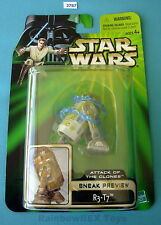 """Star Wars 2002 R3-T7 Sneak Preview POTJ 3.75""""  Figure Mint On Card!"""