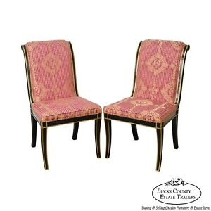 Charmant Image Is Loading Regency Directoire Style Black Amp Gold Frame Upholstered