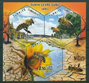 Details about TURKEY 2014 WORLD ENVIRONMENT DAY: BEES S/S MNH C51