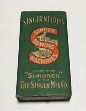 Rare Antique Singer 16 Simanco Industrial134x1 Sewing Machine Needles W Box 29ct