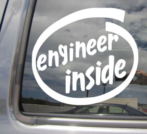Engineering Civil Mechanic Car Vinyl Decal Sticker 10553 Engineer Inside