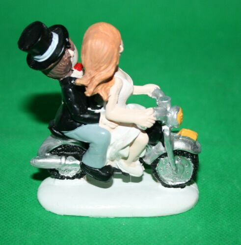 Dekoration Hochzeitspaar auf Motorrad Hochzeit 8 cm h  Brautpaar Deko Poly