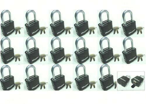 Lot 17 Lock Set by Master M115KALF KEYED ALIKE Carbide Shackle Weather Sealed