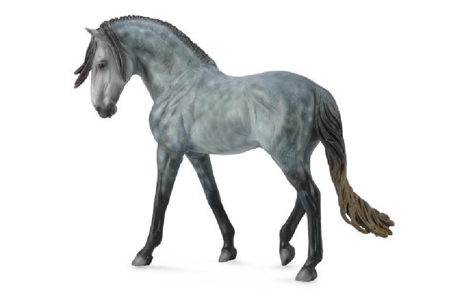 Collecta 89555 89555 89555 Andalusier Hengst Dark Dapple Grey Geschenkbox 19 cm Pferdewelt d767c8