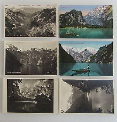 Vorsichtig 6 Alte Postkarten Bayern ~1910 Bis 1930 Königsee Malerwinkel St. Bartholomä Warm Und Winddicht