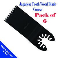 6 Wood Blade Oscillating Multi Tool For Dewalt Ryobi Ridgid Milwaukee Rockwell