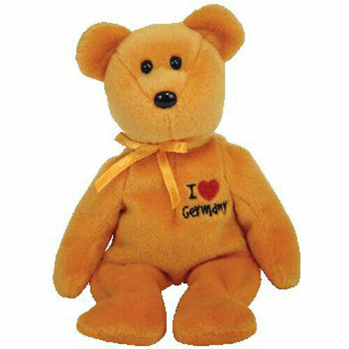 Ty Beanie Baby ~ NIKLAS the Bear 9 Inch Germany Exclusive MWMT