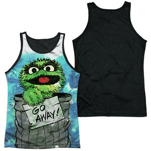 SESAME-STREET-OSCAR-THE-GROUCH-CAN-IT-Licensed-Adult-Men-039-s-Tank-Top-Tee-SM-3XL