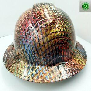 New-Custom-PYRAMEX-Full-Brim-Hard-Hat-IRONMAN-METALLIC-SWIRL-3D-CRAZY-SICK-NEW
