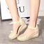 thumbnail 11 - Roman-Womens-Wedge-Mid-Heels-Strappy-Linen-Sandals-Pointy-Toe-Casual-Retro-Shoes