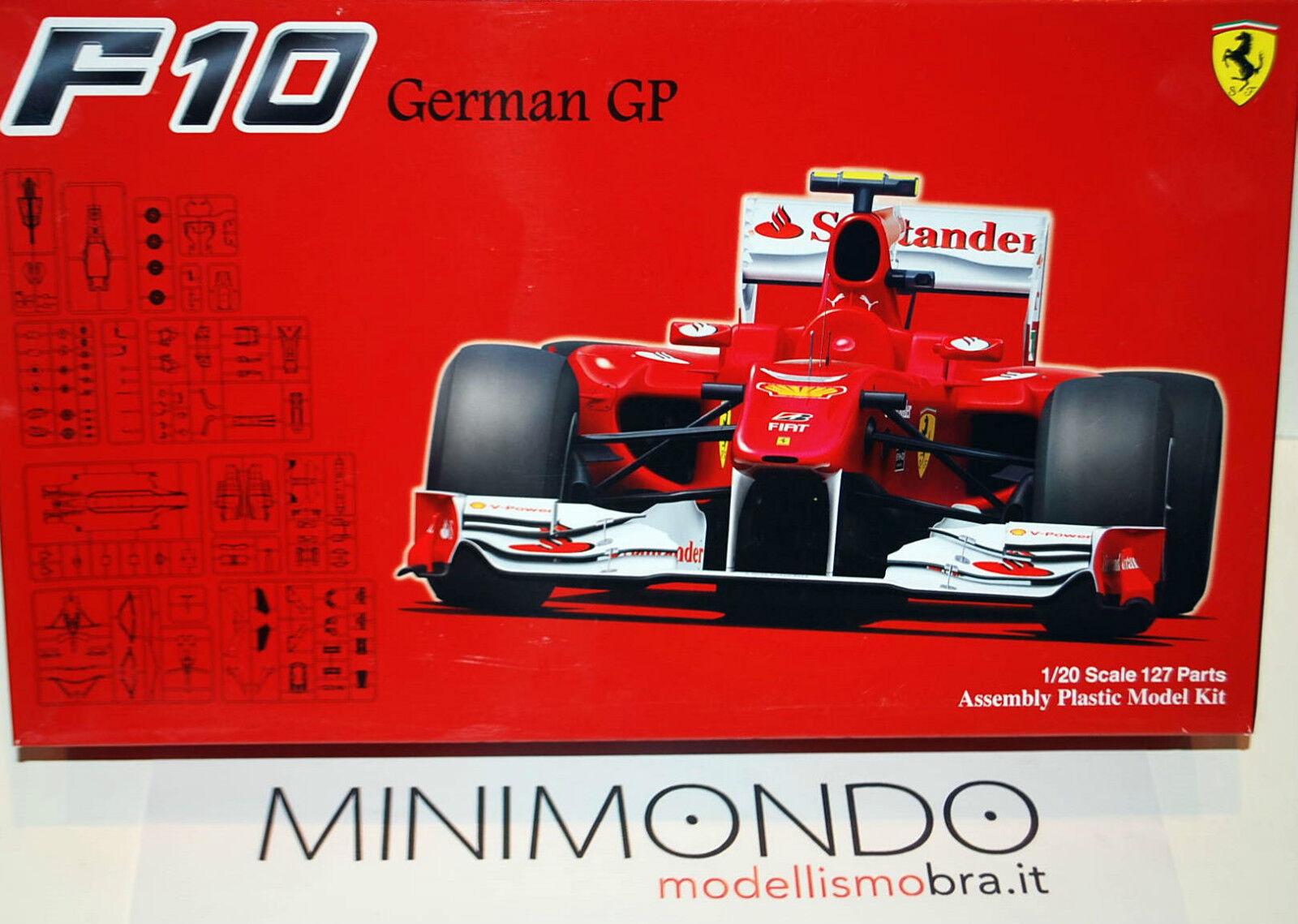 KIT FERRARI F10 F10 F10 GERMAN GP 2010 ALONSO MASSA 1 20 FUJIMI GP41 09094 5d8d8e