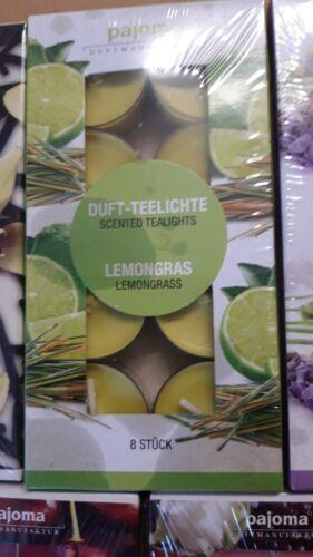 Wildkirsche NEU! Pajoma 8 Stück Teelichter Duftkerzen
