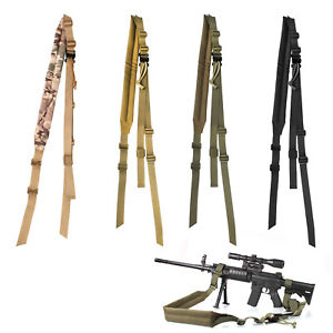 Tactical-2-Point-Rifle-Gun-Sling-Shoulder-Strap-Outdoor-CS-Hunting-Shotgun-Belts