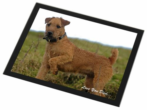 Lakeland Terrier 'Love You Dad' Black Rim Glass Placemat Animal Table , DAD73GP