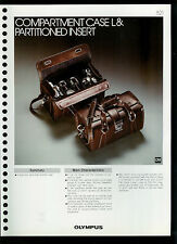 Factory 1978 Olympus Compartment Case L Camera Dealer Data Sheet Page