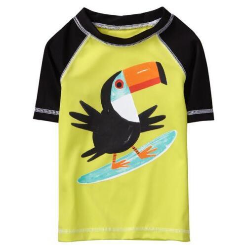 NWT Gymboree Surfing Toucan Boys Short Sleeve Rash Guard Swim Shirt 2T 3T 4T 5T