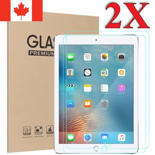 Premium Tempered Glass Screen Protector for Apple iPad For All Models 2 Pack