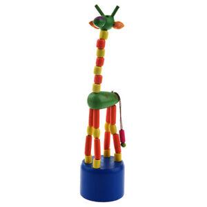 Kid-Developmental-Toy-Baby-Dancing-Rocking-Standing-Colorful-Giraffe-Wooden-I8B0