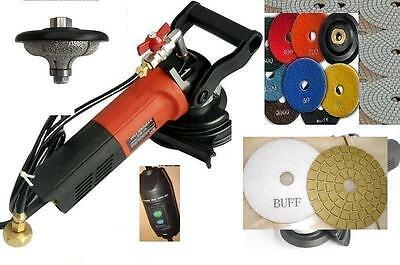 """Wet Polisher F30 1-1//4/"""" Ogee Bullnose Router 45 Pad Buff Stone Concrete Granite"""