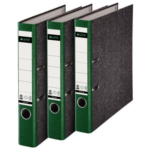 20 x ORDNER A4 5cm grün LEITZ 1050 Wolkenmarmor Qualitäts Aktenordner