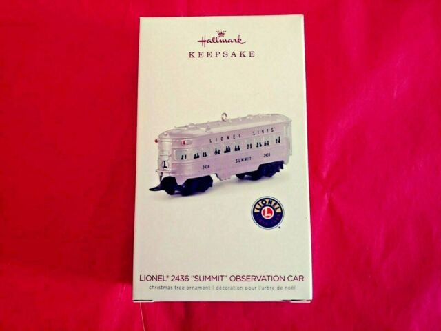 "Hallmark 2018 Lionel 2436 ""Summit"" Observation Car Train Keepsake Ornament"