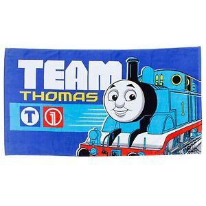 Thomas-et-ses-amis-equipe-Serviette-Bleu-100-coton