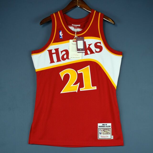 1578041bc Authentic Mitchell Ness Dominique Wilkins 86 87 Hawks Jersey Size 36 40 44  Mens