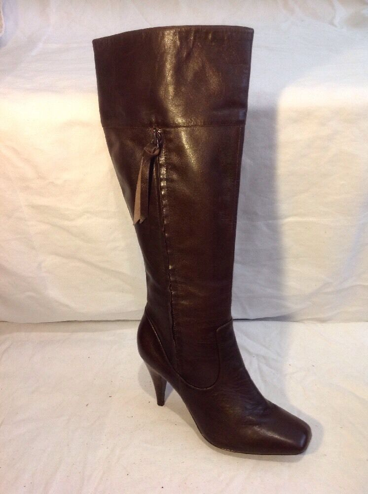 Laceys Brown Knee High Leather Boots Size 37