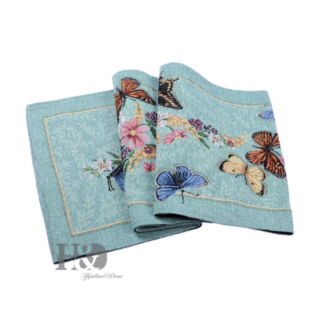 Glamorous Butterfly Garden Vintage Table Runner Rustic Wedding Party Decor
