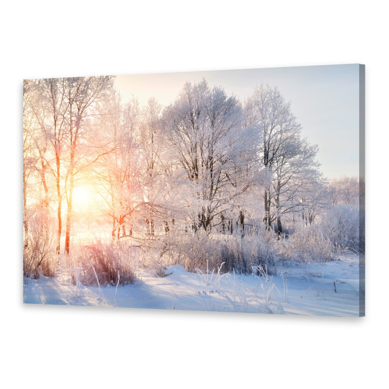 - Tela Immagini Immagine Parete Stampa su Tela Arte Stampa Alberi Inverno
