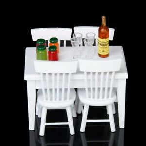 5pcs-Miniature-Dining-Table-Chair-Wooden-Furniture-Set-for-1-12-Dollhouse