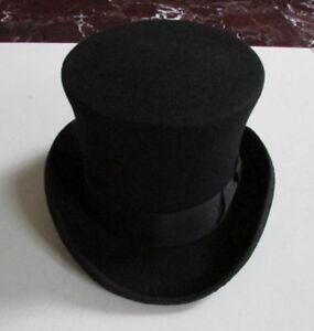 18cm//7/'/' 100/% Wool Victorian Mad Hatter Top Hat Vivi Magic Performing Caps Crown