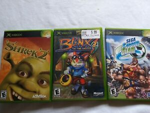 Orignal-Xbox-Family-Kids-Lot-Sega-Soccer-Slam-Shrek-2-Blinx-The-Time-Sweeper