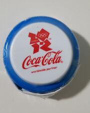 COCA COLA COKE YOYO OLYMPICS BLUE LONDON 2012 SEALED IN PLASTIC! PROMOTIONAL!