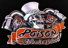 Skull Rose Chopper Biker Poison Rock Belt Buckles Boucle de Ceinture