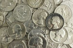 90 Lot Us Junk Silver Coin 1 4 Pound Lb 4 Oz Pre 1965 Washington Quarter One 1 Ebay
