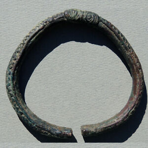 an ancient ornate copper african bracelet mali #197
