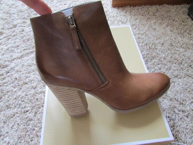 2e04ad00b63e3 Michael Kors Denver Leather Ankle BOOTS Womens 10 Cognac Caramel ...