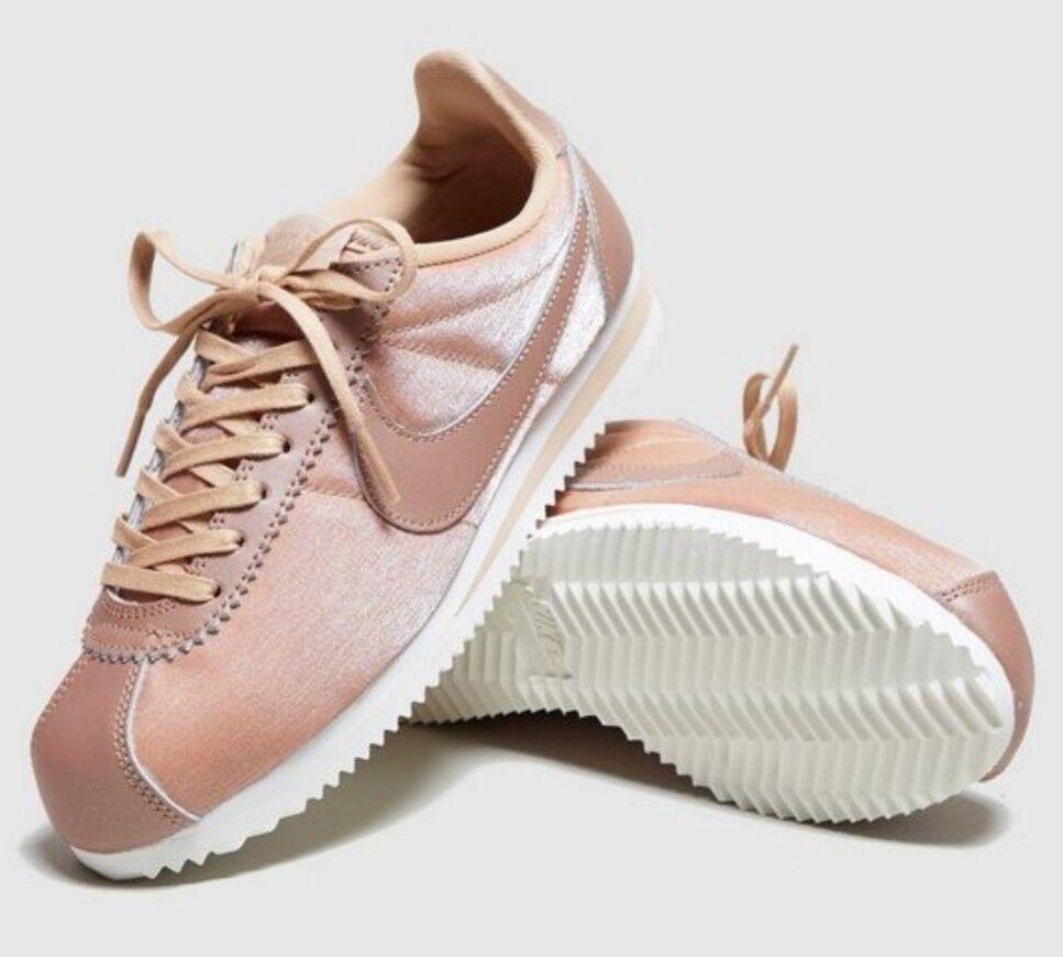 Nike Classic Cortez Prem Nylon Metallic ROT Bronze WEISS Trainers Men Damens UK 6