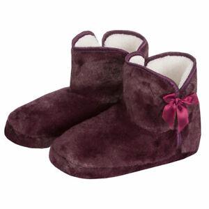 Ladies Women Mule Slippers Memory Foam Faux Fur Ribbon Textile Soul Indoor