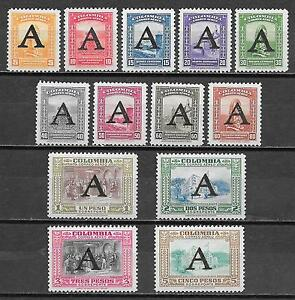 Colombia stamps 1950 MI 566-578 AIRMAIL MLH VF