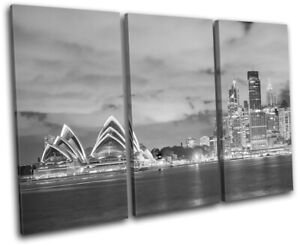 Sydney-Skyline-Harbour-Opera-House-City-TREBLE-CANVAS-WALL-ART-Picture-Print