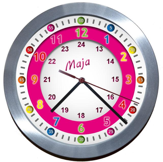 FUNKUHR<ALU>✿<Lern-Uhr>ideal für Kinderzimmer-Kindergarten-Schule★EINSCHULUNG★