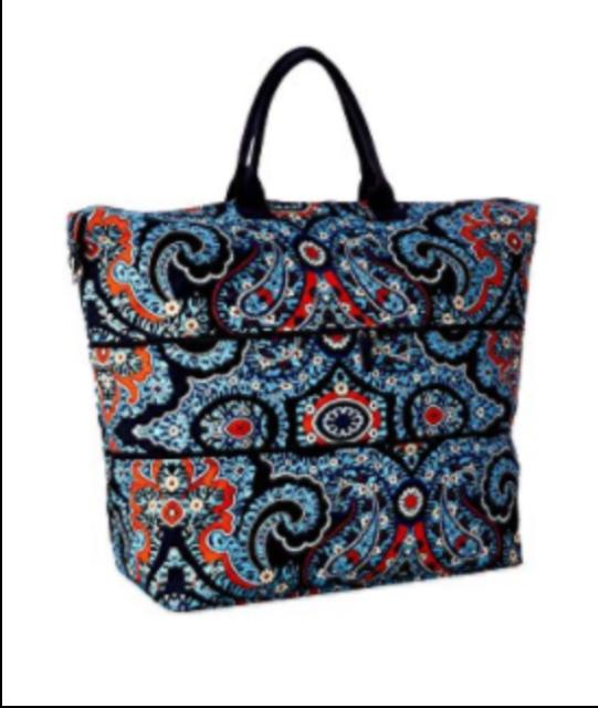 NWT Vera Bradley LIGHTEN UP Expandable Travel Bag Marrakesh Polyester NEW! 66cf64a933944